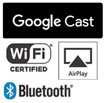 Google Cast™, AirPlay, Wi-Fi® и Bluetooth